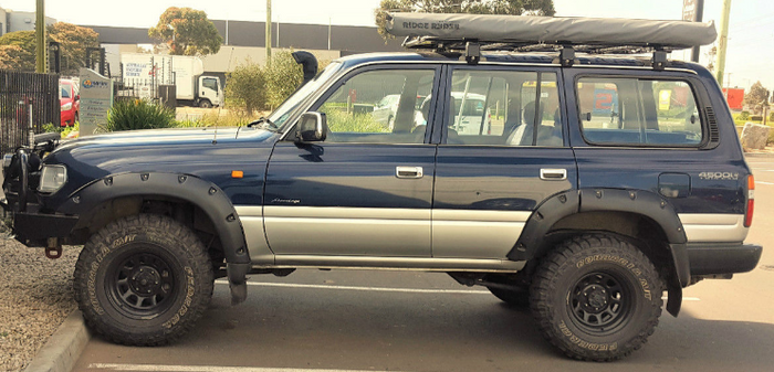 MATTE BLACK JUNGLE FLARES TO SUIT TOYOTA LANDCRUISER 80 SERIES 6PC 1990-1998 4X4 4WD