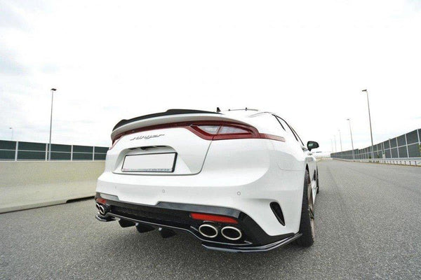 ABS GLOSS BLACK REAR BUMPER BAR DIFFUSER TO SUIT KIA STINGER GT 2017-2019