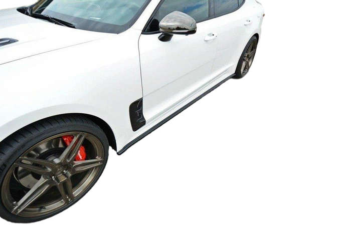 ABS GLOSS BLACK SIDE SKIRTS TO SUIT KIA STINGER GT 2017-2019