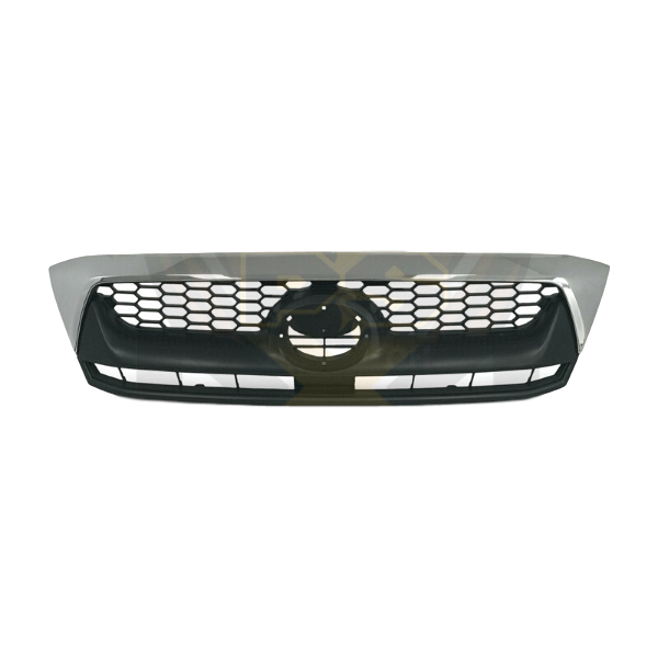 BLACK & CHROME REPLACEMENT BUMPER BAR GRILL TO SUIT TOYOTA HILUX SR SR5 2005-2011