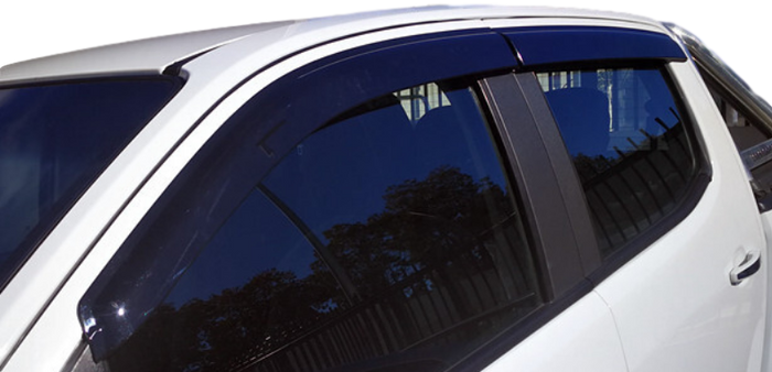 WEATHER SHIELD WINDOW VISORS TO SUIT ISUZU DMAX 12-16 DUAL CAB