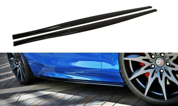 ABS GLOSS BLACK SIDE SKIRTS TO SUIT BMW 1M F20 FACE LIFT 2015+