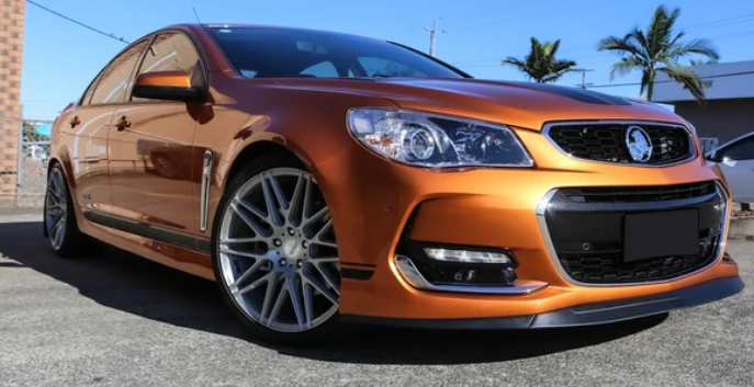 FRONT BUMPER BAR LIP SPLITTER TO SUIT HOLDEN COMMODORE VF SERIES 2015-2017