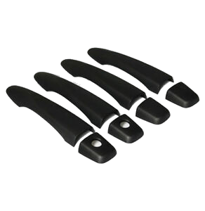 MATTE BLACK DOOR HANDLE COVERS TO SUIT NISSAN NP300 D23 2015-2019