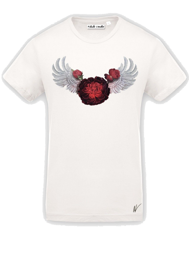 T-Shirt Rose and Wings par Nathalie Lecoultre