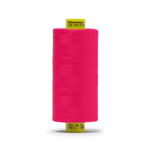 Bra Sewing Thread, Deep Pink, Gütermann Mara 120 All Purpose Polyester Thread - Tex 25 – 1,000 Meters, 1,093 Yds. - Gigi's Bra Supply