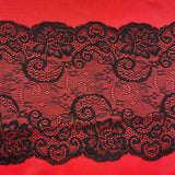 Bra Fabric Kit, Red and Lace Trio Bra Making Fabric Kit for all Bra Patterns