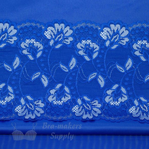 Bra Kit, Royal Blue Trio Bra Making Kit (Fabrics, Lace, Sheer Cup Lining, Findings)