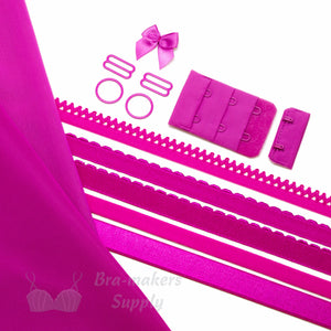 Bra Kit, Fuchsia Full Kit (Fabric and Findings) - Gigi's Bra Supply
