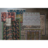 Vegetable Dyed Woven Floral Rug ~ Green 4x6