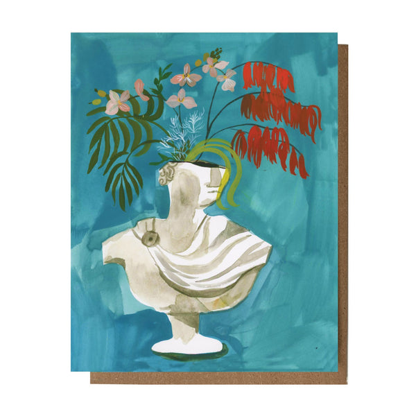 Flora Bust Blank Card by THE ESME SHOP