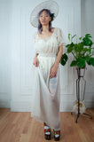 1960's Sheer Garden Goddess Maxi gown