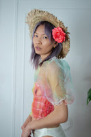 Rainbow Organza Prairie Top