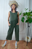 Olive Summer Playtime Jumpsuit