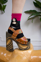 Fine Art Mona Lisa Socks