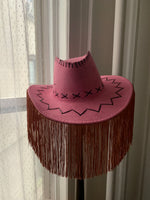 Copy of Ride 'Em Cowgirl Hat with Fringe - Pink