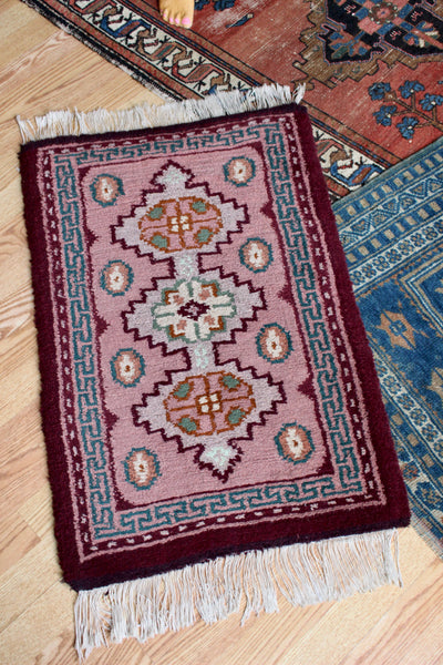 Witchy Antique Maroon Rug