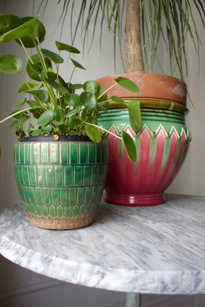 Green Tile Pot
