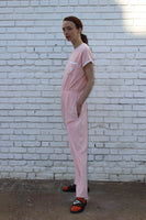 Vintage Pink Terry Cloth Jumpsuit
