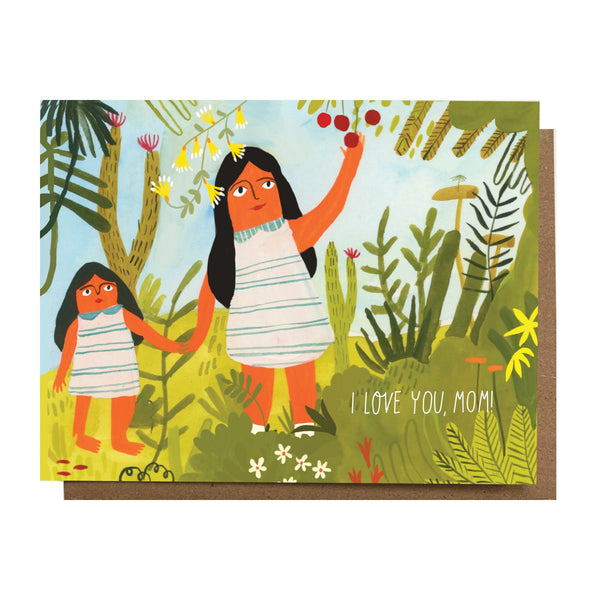 I Love You Mom Greeting Card by THE ESME SHOP