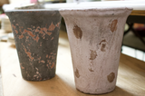 Tall Distressed Terra Cotta Pot