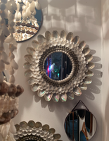 70s Abalone Seashell Mirror