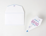 Good Vibes Paper Airplane Greeting Card