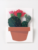 Christmas Cacti Greeting Card