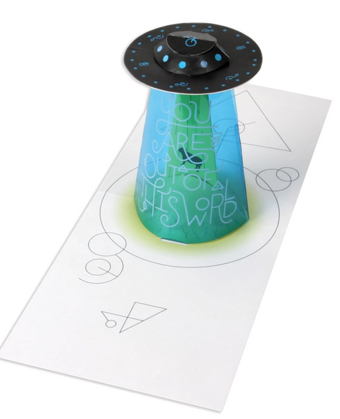 UFO Out Of This World Pop Up Greeting Card