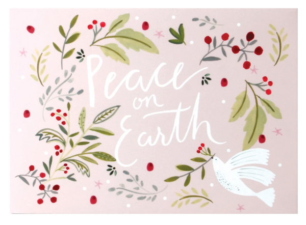 Peace On Earth Dove Pop Up Greeting Card