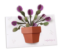Flirty Venus Fly Trap Pop Up Greeting Card
