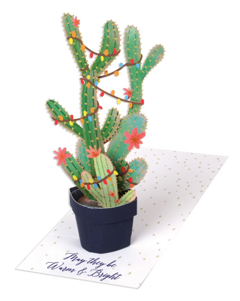 Holiday Cactus Tree Pop Up Greeting Card