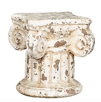 Distressed Ionic Column Plant Pedestal