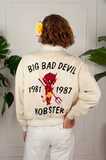 Rockabilly Big Bad Devil Silk Satin Bomber
