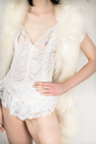 Ostrich Feather Lingerie Vest