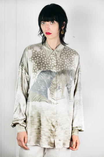 Escada Silk Leopard Blouse