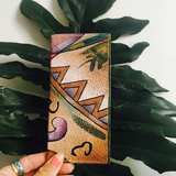 80s Sam Sam Abstract Painted Leather Wallet