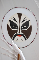 Artisan Painted Mask Hand Fan