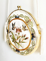 20's Embroidered Silk Circle Purse
