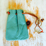 Southwestern Turquoise Leather Coin Pouch