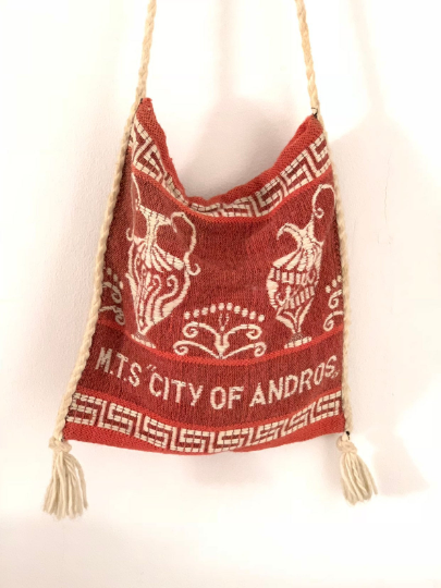 City of Andros Greek Travel Crossbody Tote