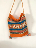 Greek Motif Travel Crossbody Tote