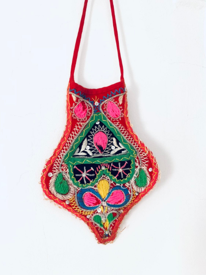 South American Embroidery Belt Pouch