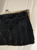 1920s Black Micro Beaded Party Purse