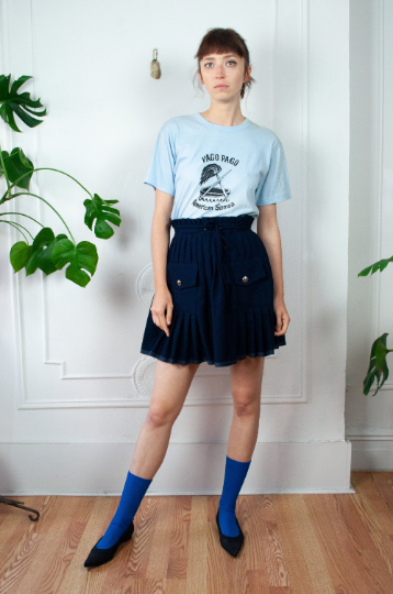 90s French Girl Mini Skirt Vintage Feith Club