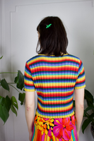 Moschino Rainbow Ribbed Knit