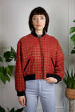 Crazy Plaid CHIA Suede Bomber