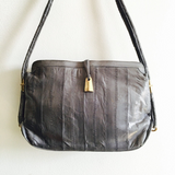 Violet Grey Leather Eel Bag