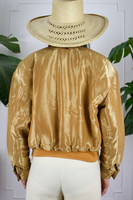 80s Gold Escada Quilted Bomber