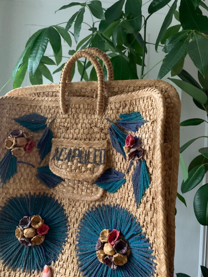 60s World Traveler Woven Acapulco Market Bag